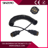7 core trailer spring cable spring cable 24v/spring wire