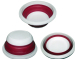 set of 3 round shape plastic folding bowl collapsible bowl with cover