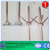 Copper lightning rod grounding system