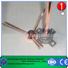 Copper lightning arrestor antenna