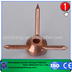 Copper arrester of high voltage arrester