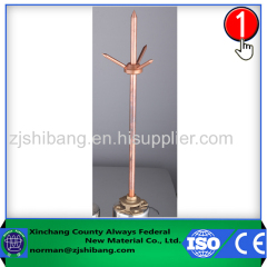 Non-magnetic Pure Copper Lightning Rod Good Quality