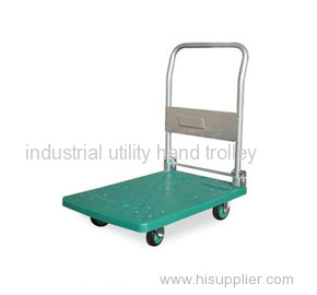 Mute foldable plastic utility trolleys