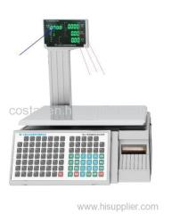Green LED pole display label printing scale
