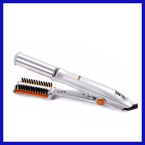 PTC heater digital display 2 in 1 hair styler nano ceramic coating hair straightener hair curle