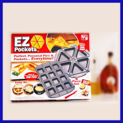 EZ Pockets Baking Pan Pizza Pan 6 pieces As seen on TV
