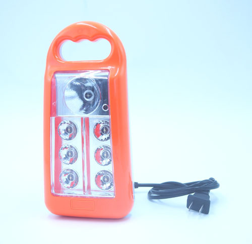 7LED Plastic Rechargeable Emergency Lamp Power Off