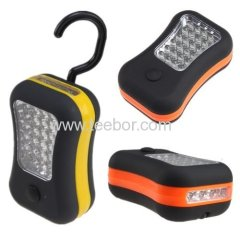 28 LED Magnetic Work Light Hanging Hook Flashlight Great for Outdoors Random Orange or Red Dual Function 24 Work Light