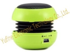 Hot selling mini hamburger speaker metal net hamburger speaker factory wholesales gift mini speaker can make logo on
