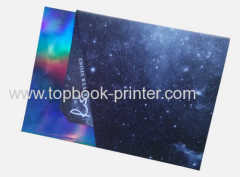 Silver foil cover softback book with kraft jacket