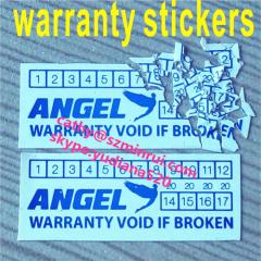 custom warranty void label stickers