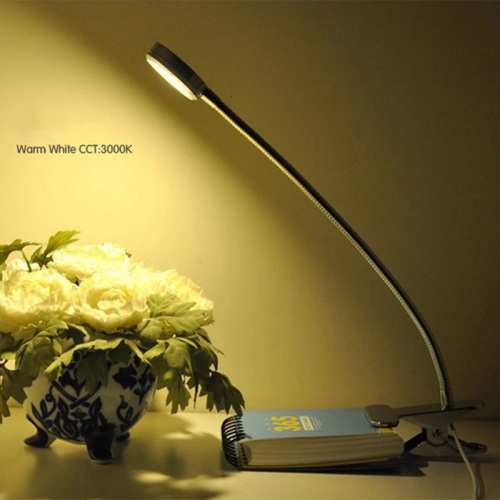 Factory wholesale LED clip bedside dimming creative learning USB small desk lamp