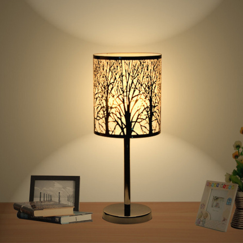 The new creative bedroom metal LED stainless steel desk lamp