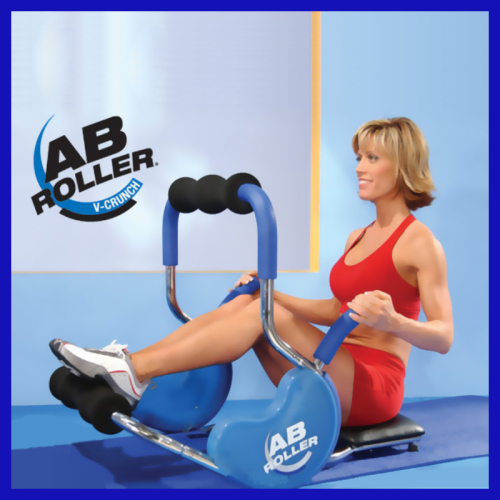 AB Roller Crunch with Head Rest Abdominal Exercise Machine