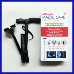 Trusty Cane As Seen on TV LED Light Foldable Triple Head Pivot Base magic Cane