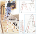 Aluminium easy Folding Ladder Super Ladder Better Quality step ladders