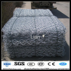 Zinc-Al alloy surface Hot dip galvanized finish gabion hexagonal woven mesh mattress