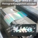 New Hologram Ultra Destructible Vinyl Eggshell Sticker Papers Eye-catching Reflective Holographic Eggshell Stic