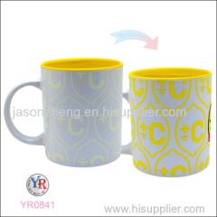 Color changing porcelain mug