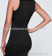 2015 new style wholesale polyester elastane sexy bodycon deep V lace up corset inspired women dress factory supplier