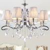 European fabric chandelier lamp fabric hotel pendant lamp fabric shade modern crystal wall lamp