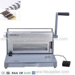 A4 paper size office Electric double wire and spiral binding machine