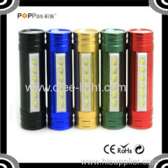 POPPAS-6616 Mini SMD LED 18650 Rechargeable USB Power Bank hunting headlamp