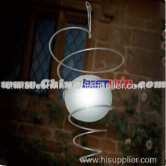 Solar Powered Colour Changing Wind Spinner Hanging Spiral LED Garden Light