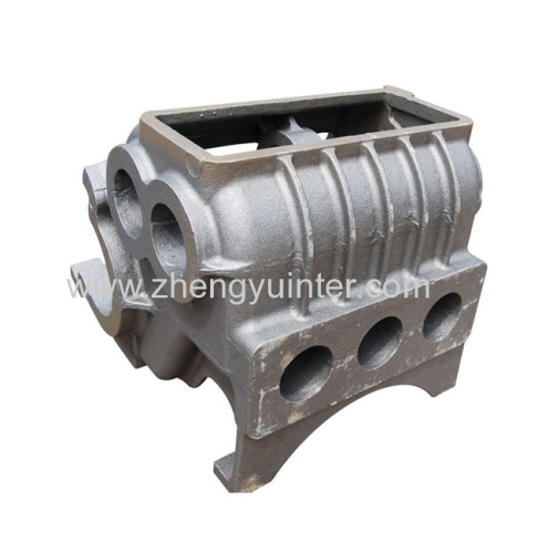 Micro foundary Ductile Iron Engine Housing Casting Parts OEM