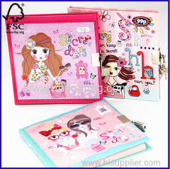 High Standard Production Cute Lock Diary Diary with Lock