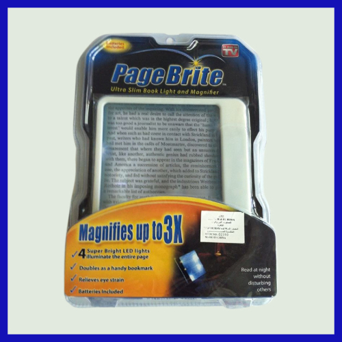 Page Brite Ultra Slim Book Light & Magnifier as seen on tv