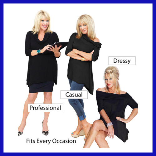 3 Way Poncho with Draped Neckline as seen on tv