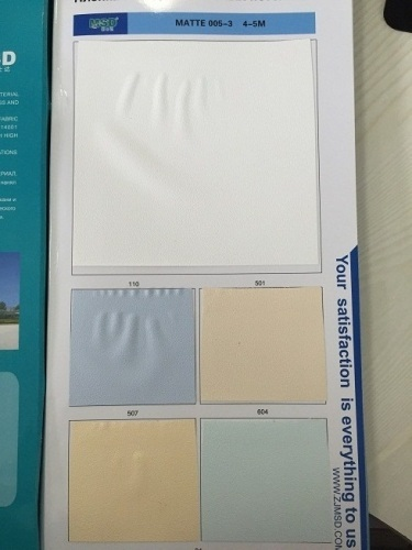 Sell MSD 0.18mm thick 5m wide PVC ceiling film matt 005-3 ceiling/wallpaper