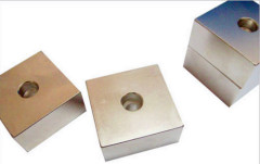 High quality neodymium square magnet with a hole in center