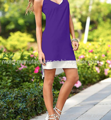Polyester two in one V neck sweet mini women wholesale plus size Dress 7XL OEM servic