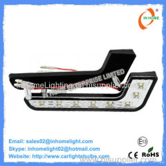 No Flickering or Buzzing White LED DRL Lights For Cars , 128 LM Plastic Cover