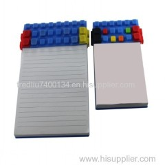 wholesale lego blocks A6 size silicone notepad