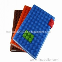 Patent factory wholesale Lego blocks silicone diary