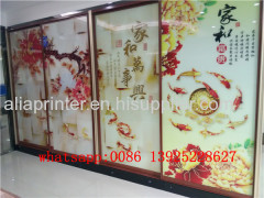 uv glass printer glass door uv flatbed printer with 5 heads