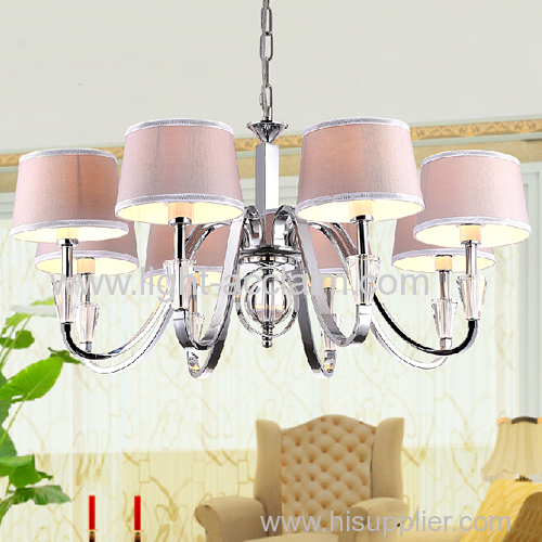 European fabric crystal chandelier lamp fabric chandelier lamp for kids fabric Pendant Cloth Shade lamp