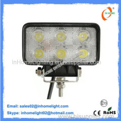 18 W 1650LM Flood Beam LED Work Lamps Led Truck Work Lights IP67
