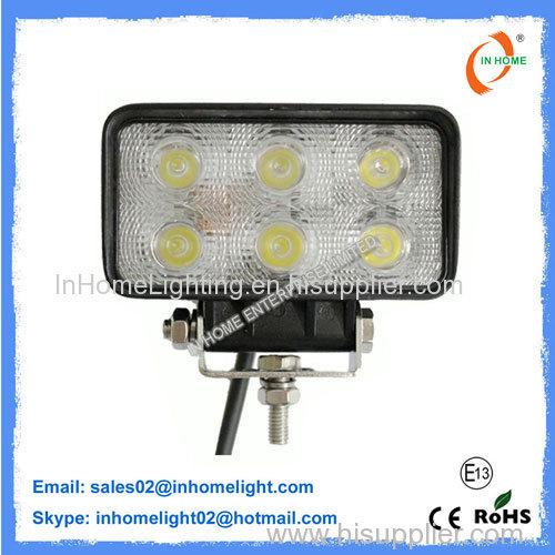 18 W 1650LM Flood Beam LED Work Lamps Led Truck Work Lights IP67