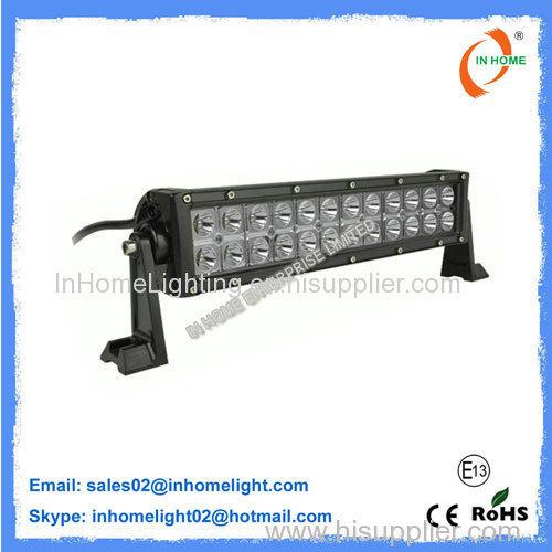 72W High Lumen Vehicle Cree Led Light Bar 7200 LM Tight Waterproof IP67