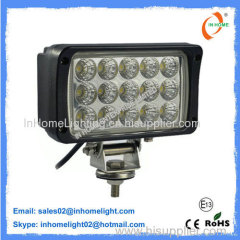 IP67 27W 2430 LM High Power LED Work Lamps 10V - 30V with Cast Aluminum Housing
