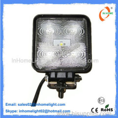 High Power 1350 LM Square Led Work Lights for Forklifts , Fire Engine , Tanks