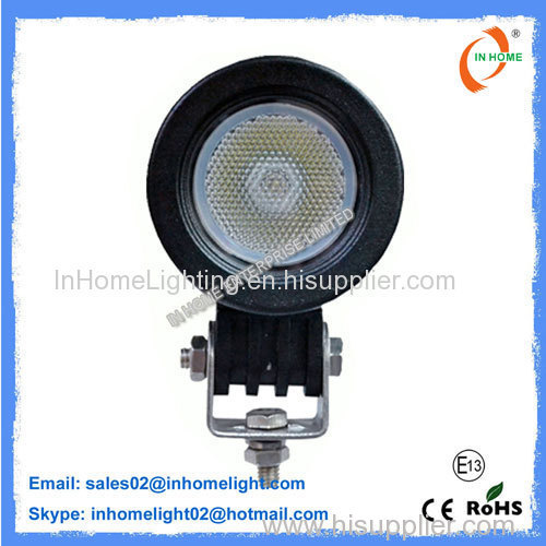 Portable 10W Round LED Work Lamps / Heavy Duty Led Work Light Energy Saving