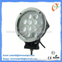 OEM Exterior 5400 LM 60W Round Led Work Light For Tractors , Vehicles