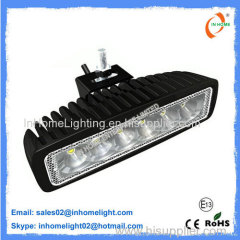 Brightess Round 12W LED Work Lamps Aluminum Flood Work Light 1080LM