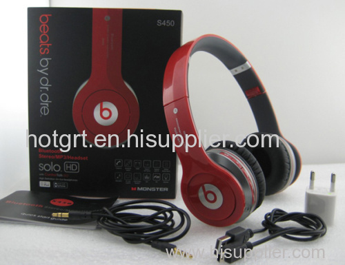 Wholesale Very Good Quality Monster Beats By Dr Dre Bluetooth Wireless S450 SOLO HD Headphones Headsets