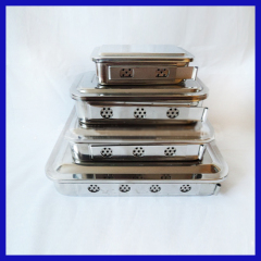 Stainless steel hospital tray
